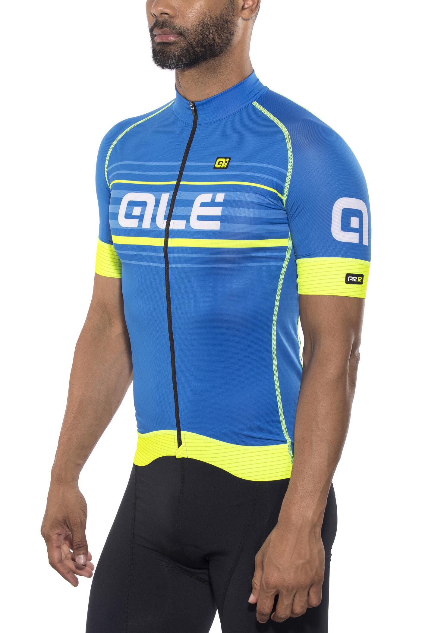 Al  Cycling Graphics PRR Salita Short Sleeve Jersey Men blue-fluo yellow.jpg c632462ea