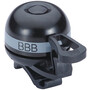 BBB EasyFit Deluxe BBB-14 Sonnette, noir/gris