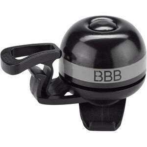 BBB EasyFit Deluxe BBB-14 Sonnette, noir/gris noir/gris