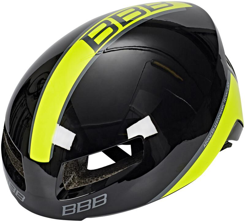 BBB Tithon BHE-08 Helm schwarz gl/neon gelb L 2018 Fahrradhelme