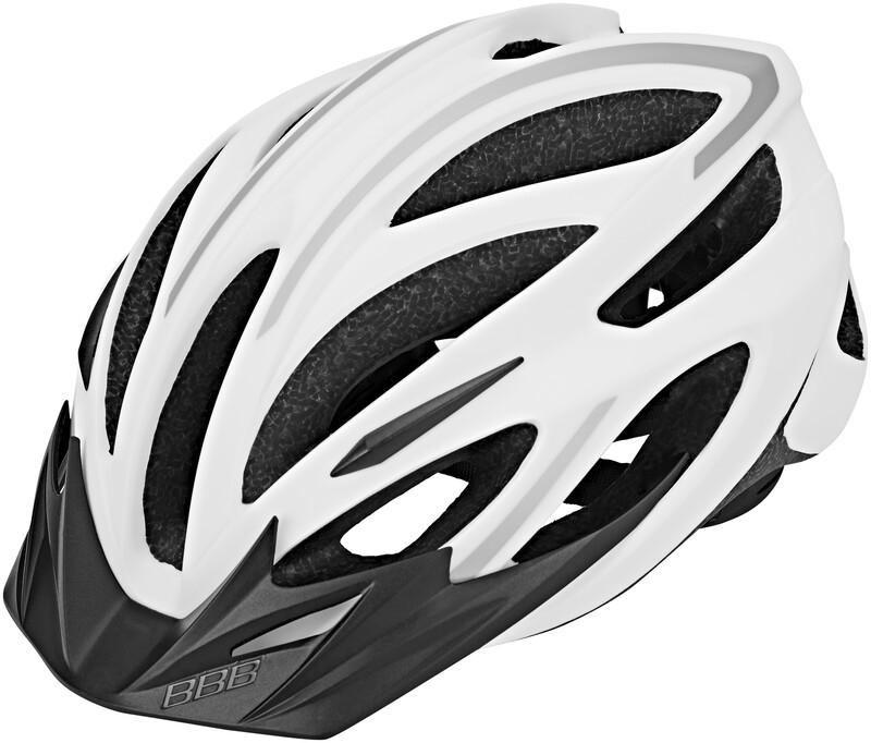 BBB Taurus BHE-26 Helm weiss/silber L 2018 Fahrradhelme