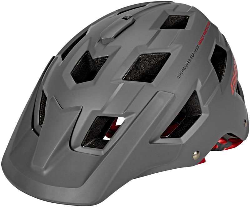 BBB Nanga BHE-54 Helm matt grau/rot M 2018 Fahrradhelme