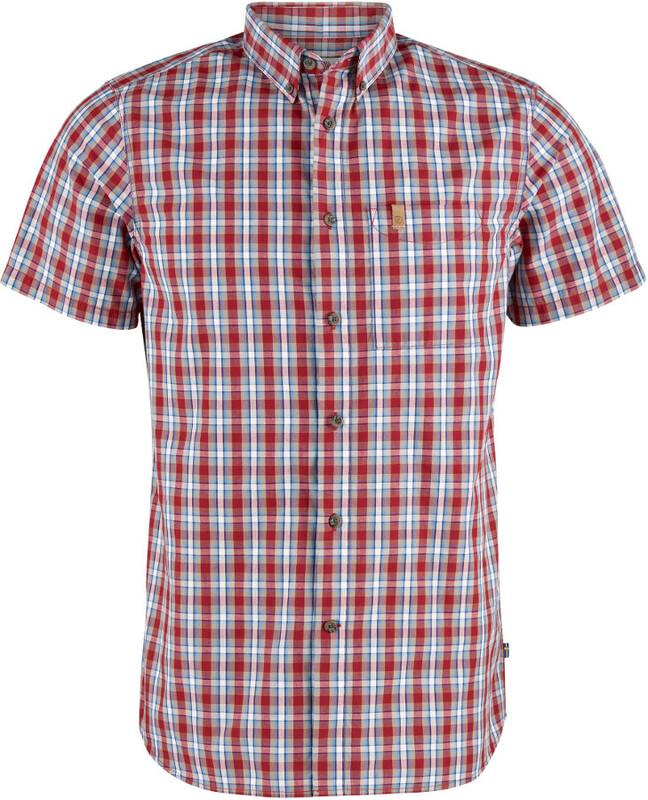 Fjällräven Övik SS Shirt Men deep red Kurzarm Hemden S 81923-325-S