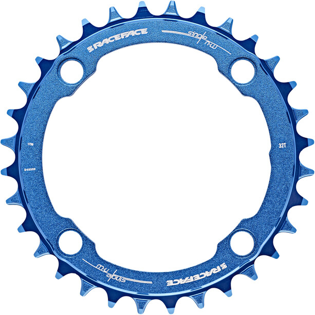Race Face Narrow Wide Chainring 4-bolt 10/11/12-speed blue