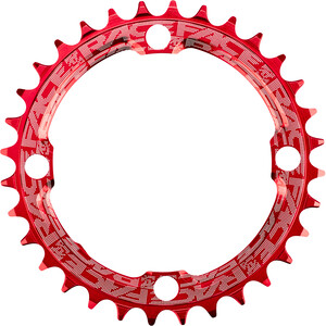 Race Face Narrow Wide Chainring 4-bolt 10/11/12-speed red red