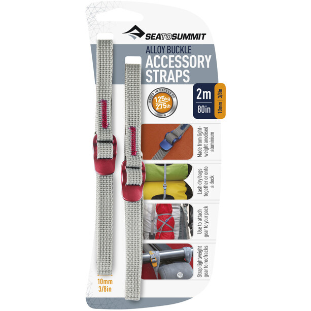 Sea to Summit Tie Down Accessory Strap 10mm 2m red