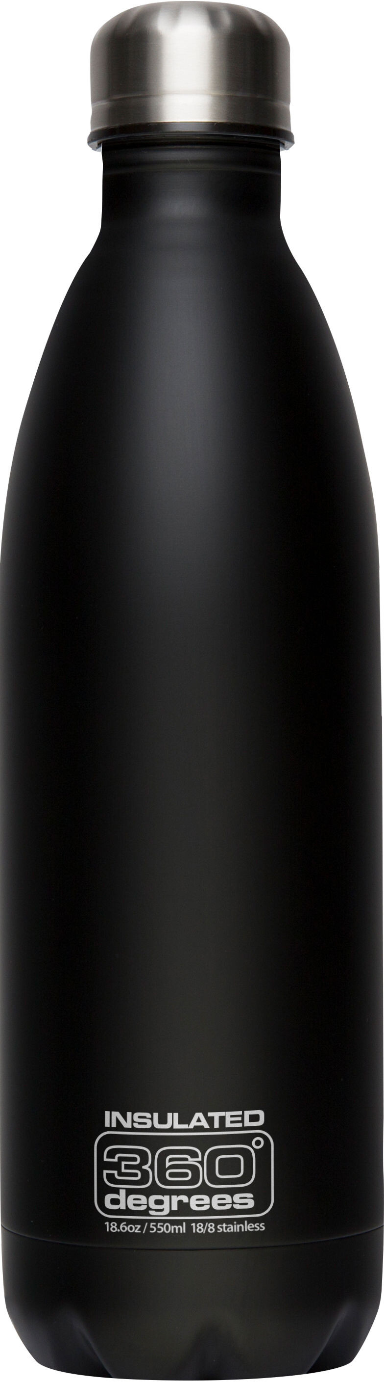 360 degrees soda insulated drink bottle 550ml black. Black Bedroom Furniture Sets. Home Design Ideas