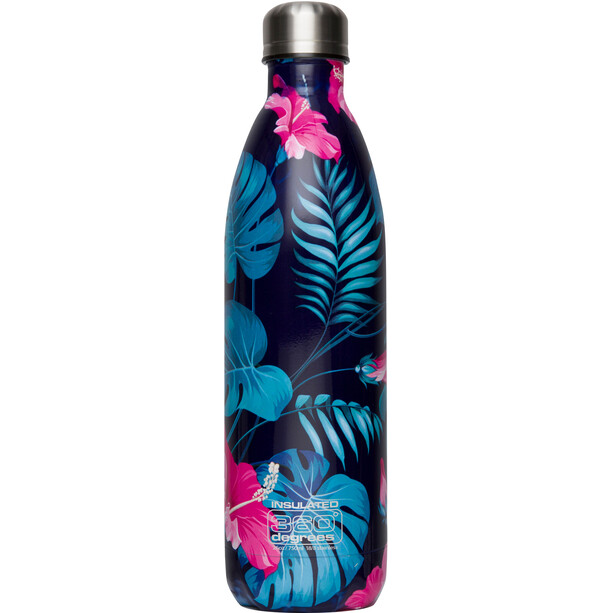 360° degrees Soda Insulated Trinkflasche 750ml flower