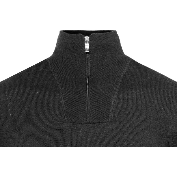 Woolpower 400 Zip Turtleneck black