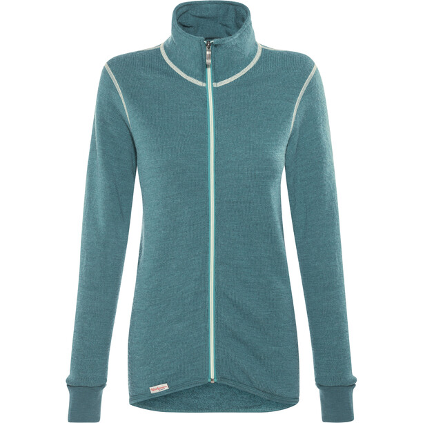 Woolpower 400 Full Zip Jacket Colour Collection petrol/champagne