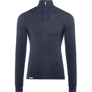 Woolpower 200 Sweat-shirt à col roulé avec demi-zip, bleu bleu