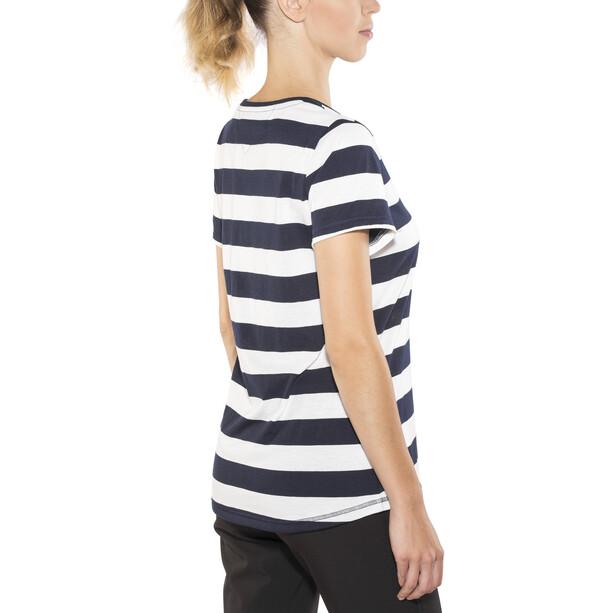 Bergans Bastøy Tee Dam white/navy striped