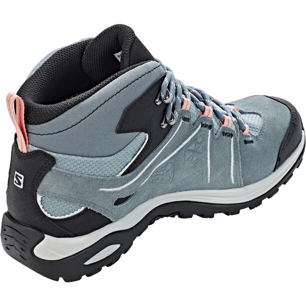 Salomon Ellipse 2 Mid LTR GTX Shoes Dam lead/stormy weather/coral almond