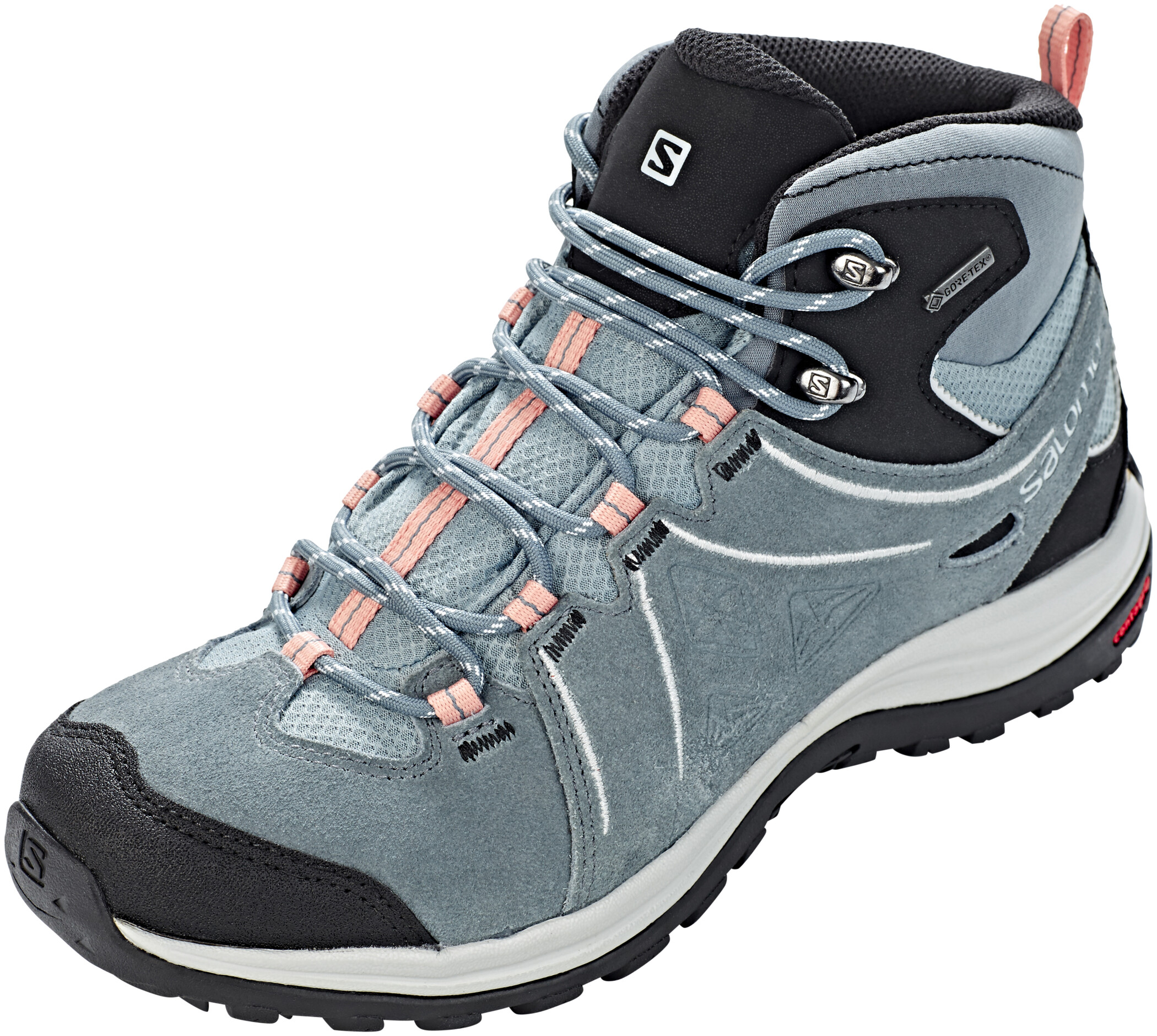 Salomon Ellipse 2 Mid LTR GTX Shoes Dam leadstormy weathercoral almond