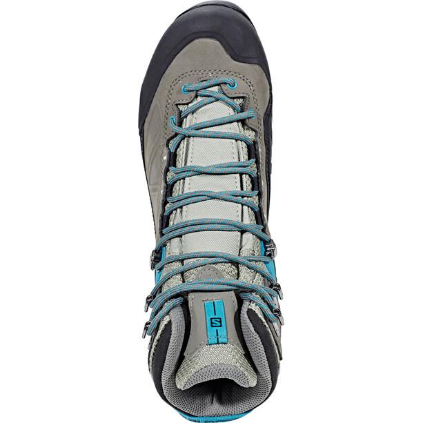 Salomon X Alp MTN GTX Shoes Dam shadow/castor grey/enamel blue