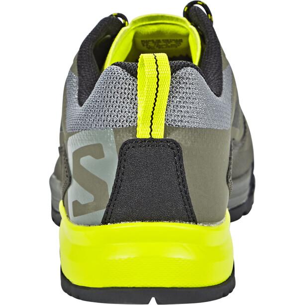 Salomon X Alp SPRY Shoes Herr castor gray/beluga/lime punch