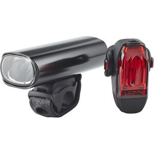 Lezyne Hecto Pro+KTV Lighting Set glossy black glossy black