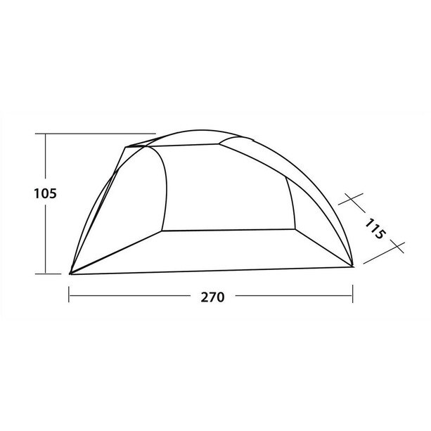 Easy Camp Beach Zelt blau/weiß