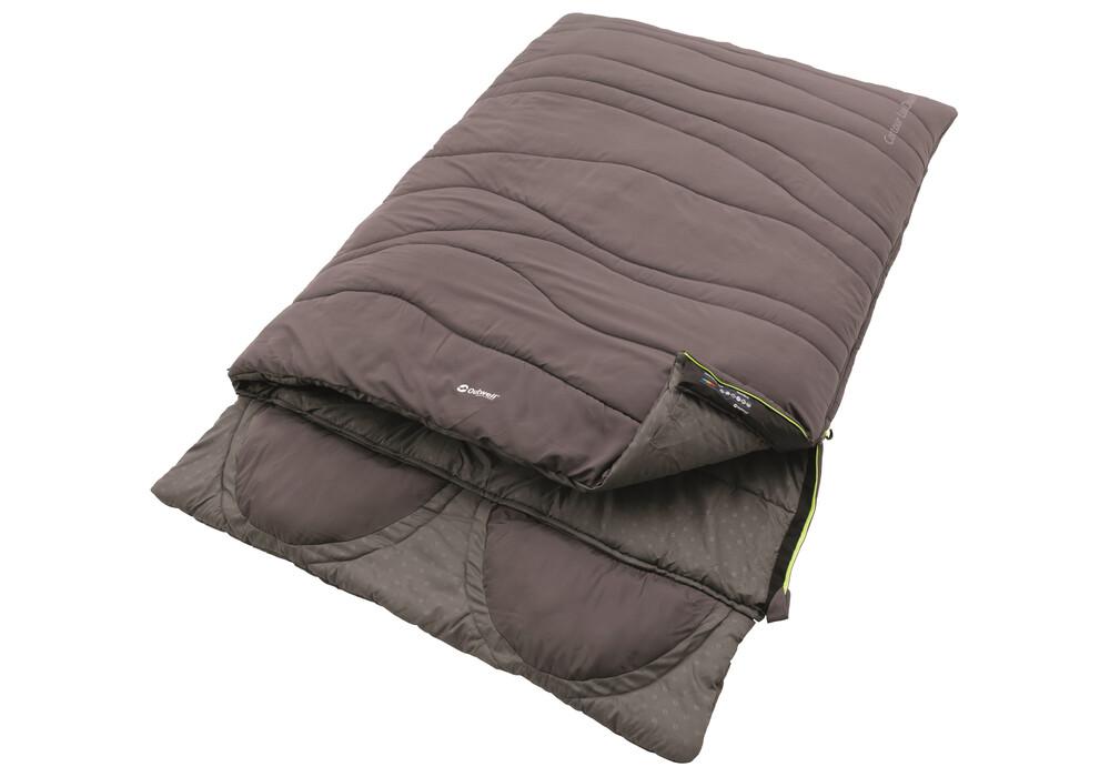 outwell contour lux double sac de couchage marron sur. Black Bedroom Furniture Sets. Home Design Ideas