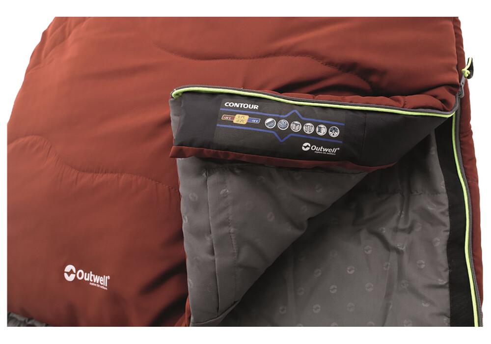 outwell contour sac de couchage rouge sur. Black Bedroom Furniture Sets. Home Design Ideas