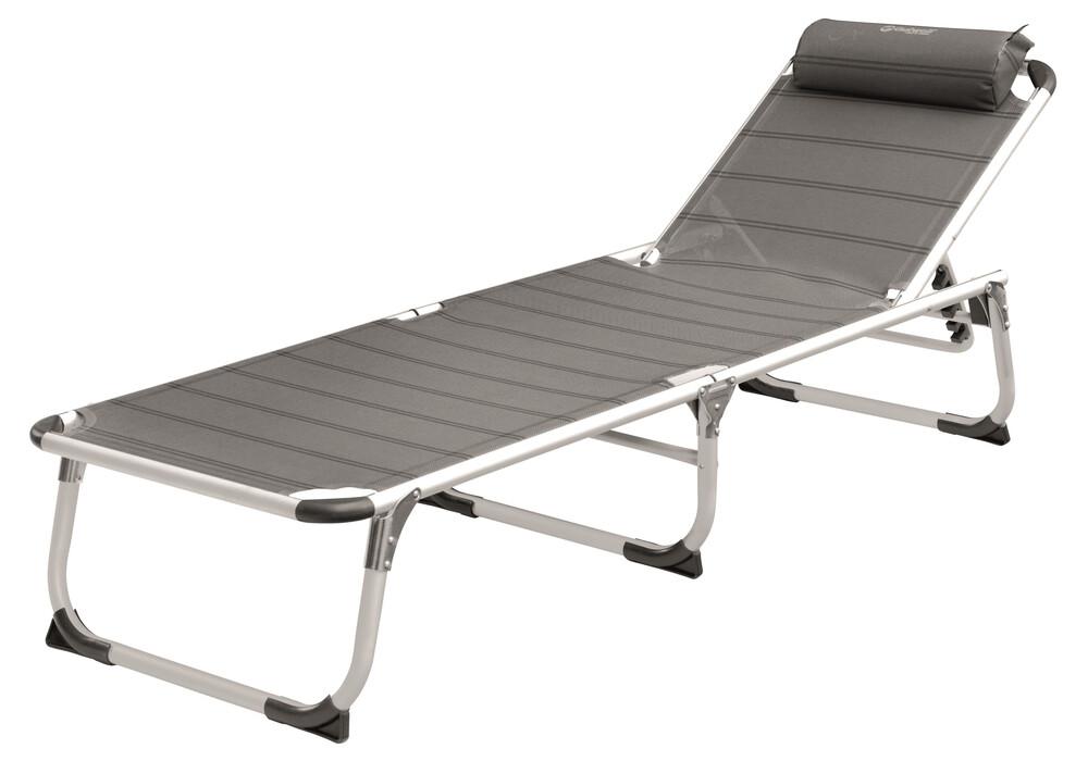 outwell new foundland chaise longue gris sur. Black Bedroom Furniture Sets. Home Design Ideas