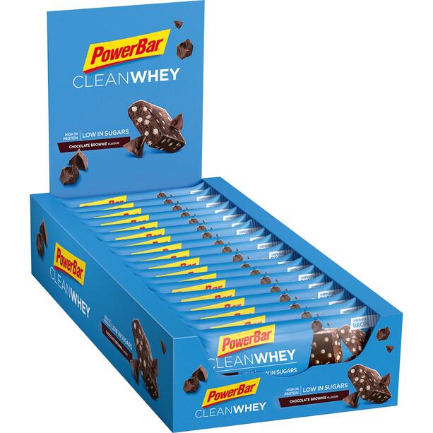 PowerBar Clean Whey Riegel Box 18x45g Schokolade Brownie