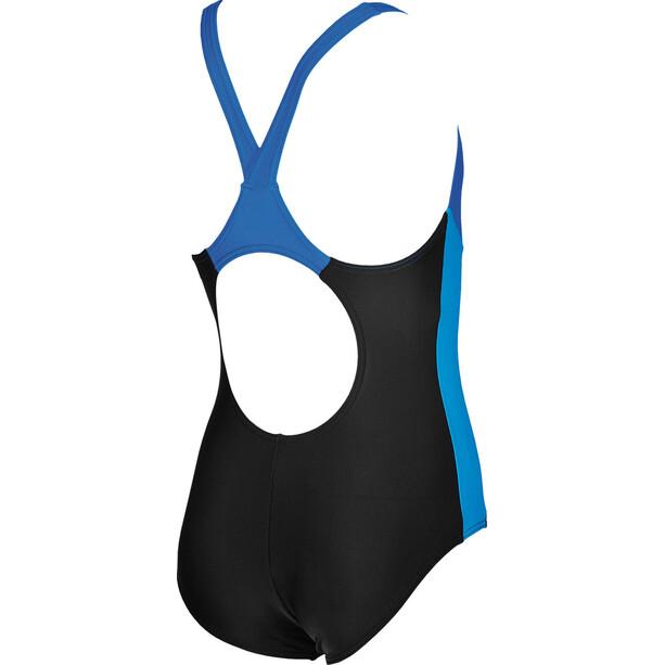 arena Ren Maillot de bain une pièce Fille, black-pix blue-turquoise