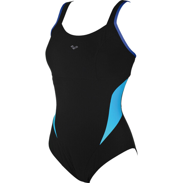 arena Makimurax One Piece Badeanzug Low C Cup Damen black-bright blue-turquoise