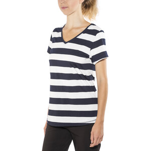 Bergans Bastøy T-Shirt Damen white/navy striped white/navy striped