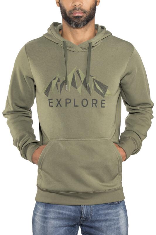 Bergans Explore Hoodie Men Seaweed Melange/Khaki Green/Solid Charcoal XL 2018 Sw