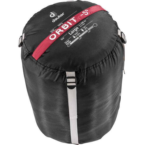 Deuter Orbit -5° Sleeping Bag L cranberry-steel