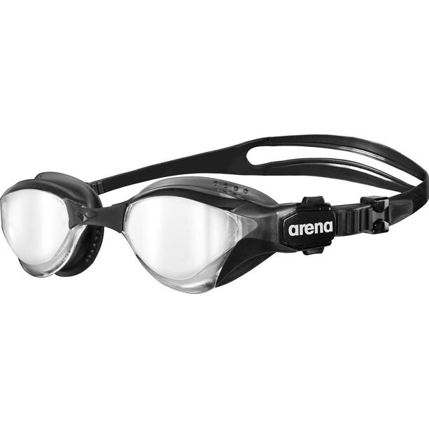 arena Cobra Tri Mirror Goggles silver-black-black