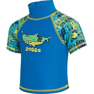 Zoggs Deep Sea Sun Top Kinder blu china/green blu china/green