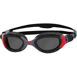 Zoggs Predator Flex Svømmebriller Polarized, sort/rød sort/rød