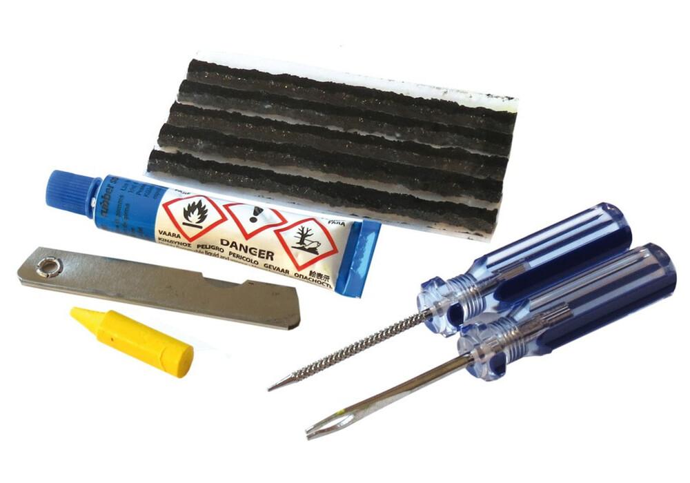 diverse tubeless reparatur kit weldtite pour pneus sans chambre air outils inclus. Black Bedroom Furniture Sets. Home Design Ideas