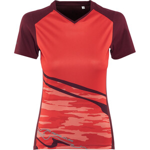 PEARL iZUMi Launch Kurzarm Trikot Damen cayenne/port vista cayenne/port vista