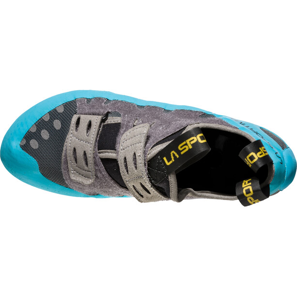 La Sportiva GeckoGym Kletterschuhe Herren carbon/tropic blue