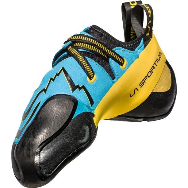 La Sportiva Futura Kletterschuhe Herren blau/gelb