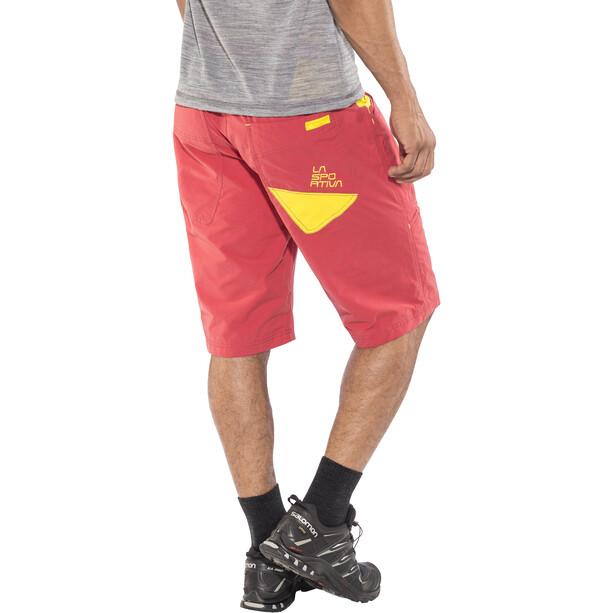 La Sportiva Leader Shorts Herren cardinal red/lemonade