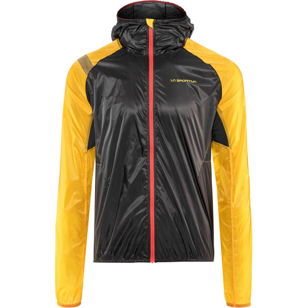 La Sportiva Blizzard Windbreaker Jacke Herren black/yellow