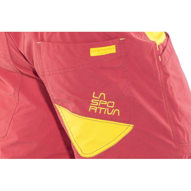 La Sportiva Leader Shorts Herr cardinal red/lemonade