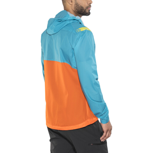 La Sportiva Hail Jacket Herr tropic blue/lava