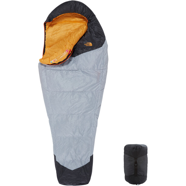 The North Face Gold Kazoo Sleeping Bag Regular high rise grey/radiant yellow