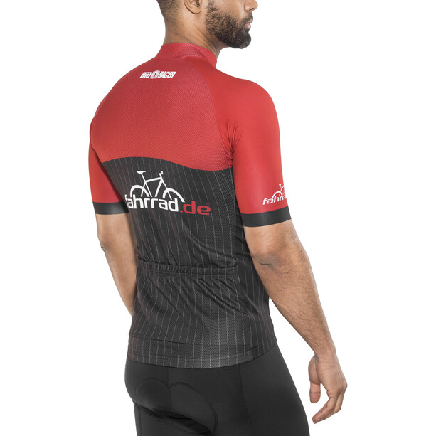 fahrrad.de Pro Race Trikot Herren black-red