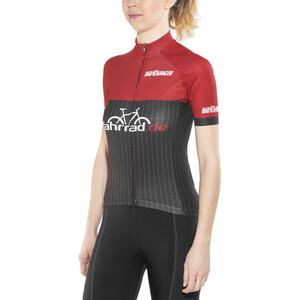 fahrrad.de Pro Race Trikot Damen black-red black-red