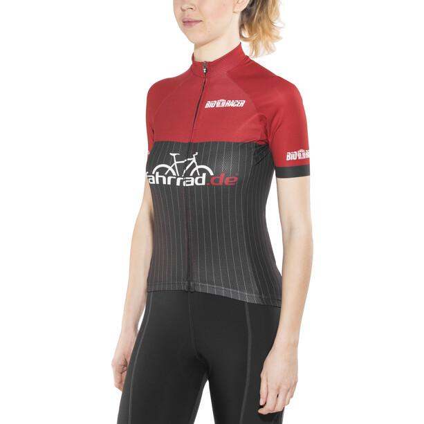 fahrrad.de Pro Race Trikot Damen black-red