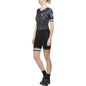 Bioracer Van Vlaanderen Triathlon-puku Lyhythihainen Naiset, black black