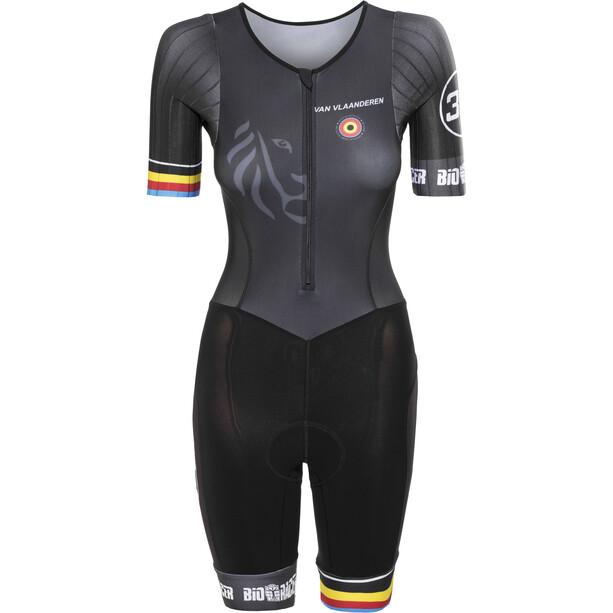 Bioracer Van Vlaanderen Trisuit Kurzarm Damen black