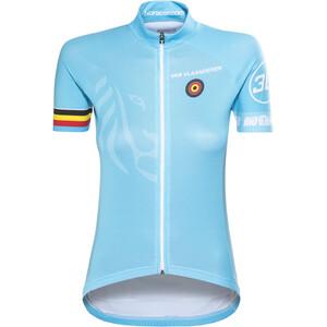 Bioracer Van Vlaanderen Pro Race Trikot Damen blau blau