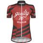 guilty 76 racing Velo Club Pro Race Trikot Damen red